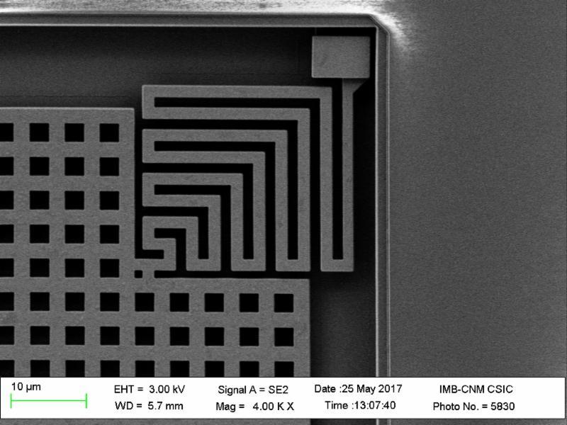 Nanusens motion sensor close up