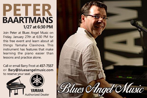 Peter Baartmans Yamaha Clavinova Workshop @ Blues Angel Music | Pensacola | Florida | United States