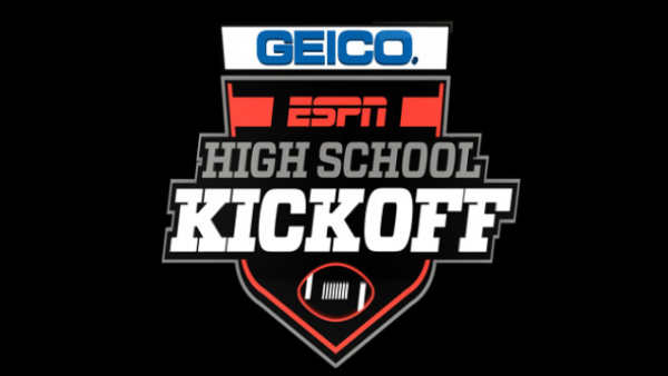 Box with the words Geico ESPN High School Kickoff
