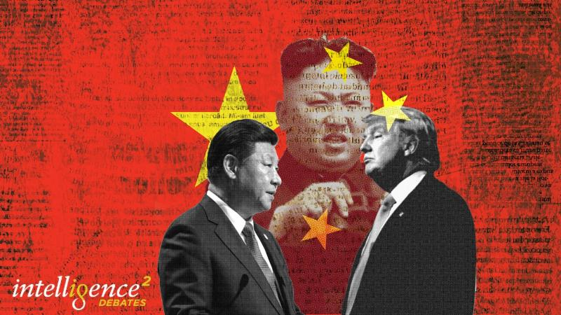 images of Xi Jinping, Kim Jong Un and Donald Trump