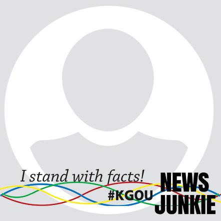 I stand with facts frame