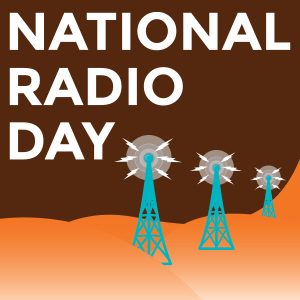 National Radio Day with radio towers