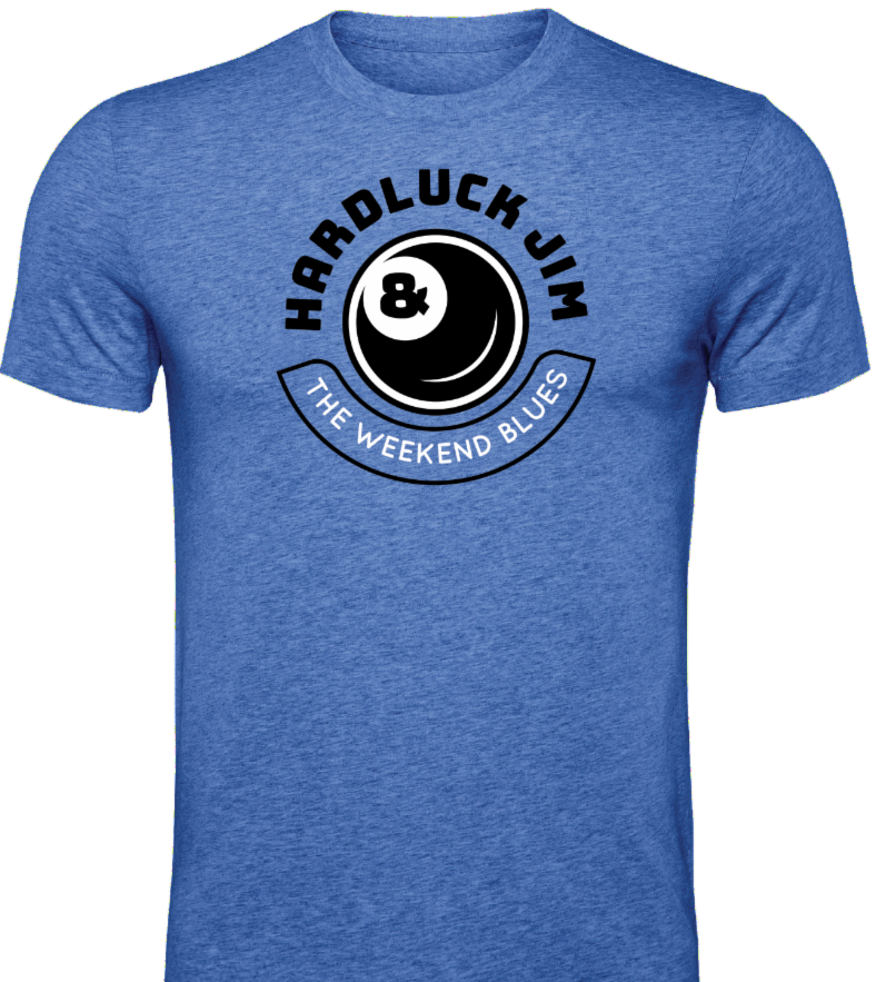 Tshirt with Weekend Blues logo