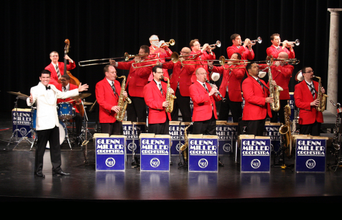 big band with leader