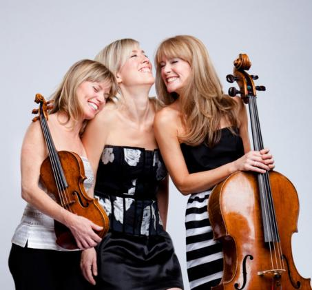 three women with instruments