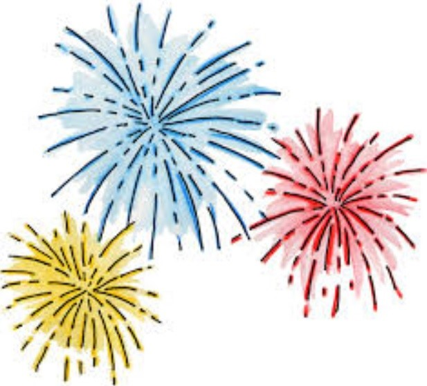 illustration of fireworks exploding