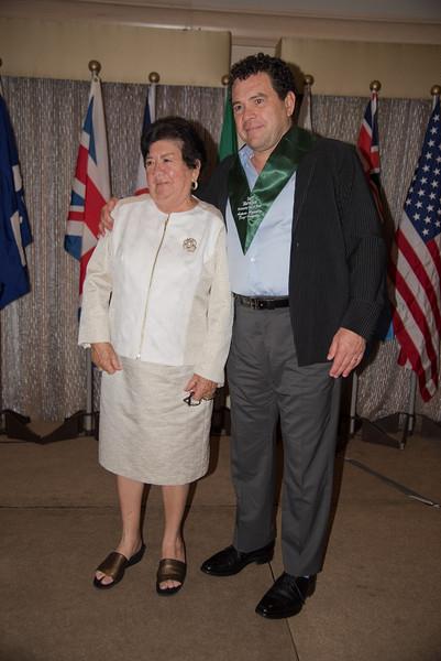 Antonio (Toño) Argüelles Díaz-González with his mother at IMSHOF 2015