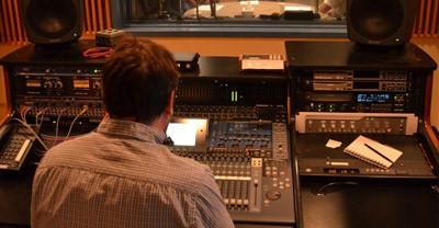Man at soundboard