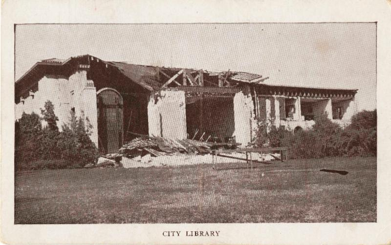 Central Library 1925 Post Earthquake