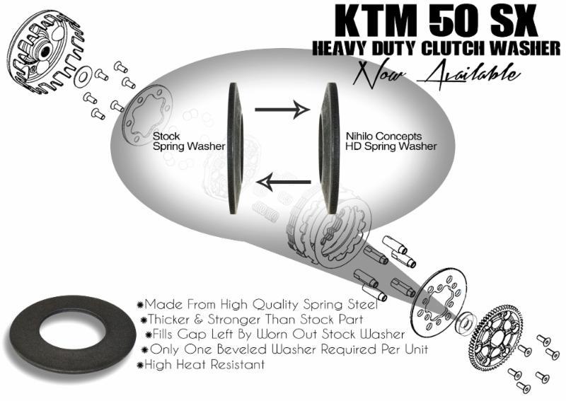 KTM 50 SX Heavy Duty Clutch Cush Spring Washer