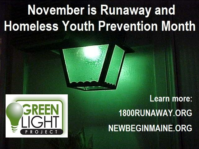 November is Runaway and Homeless Youth Prevention Month