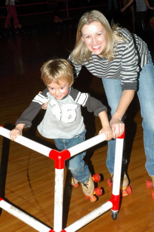 Kids roller-skating