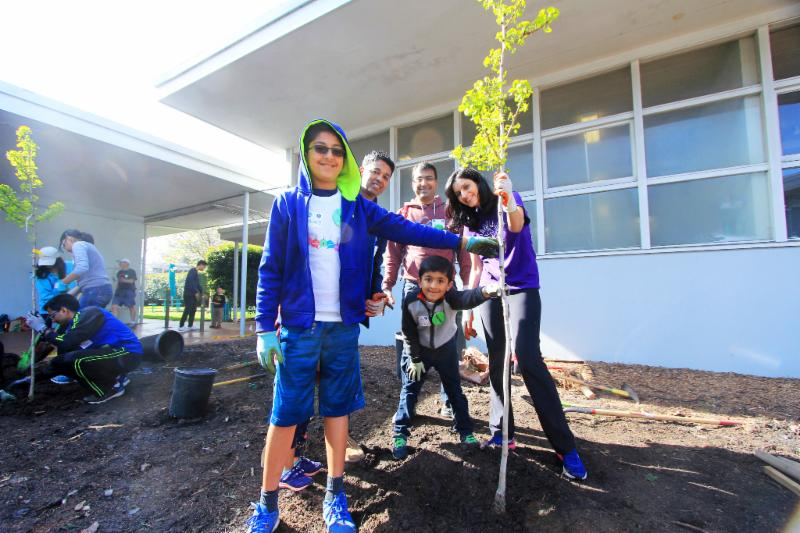 Plant trees at Cubberley