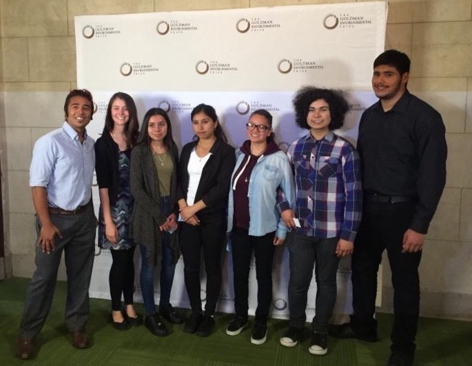Teens at Goldman Environmental Awards Ceremony