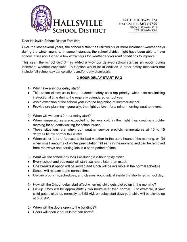 Transportation - Hallsville School District