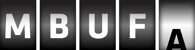 MBUFA logo Odometer graphic