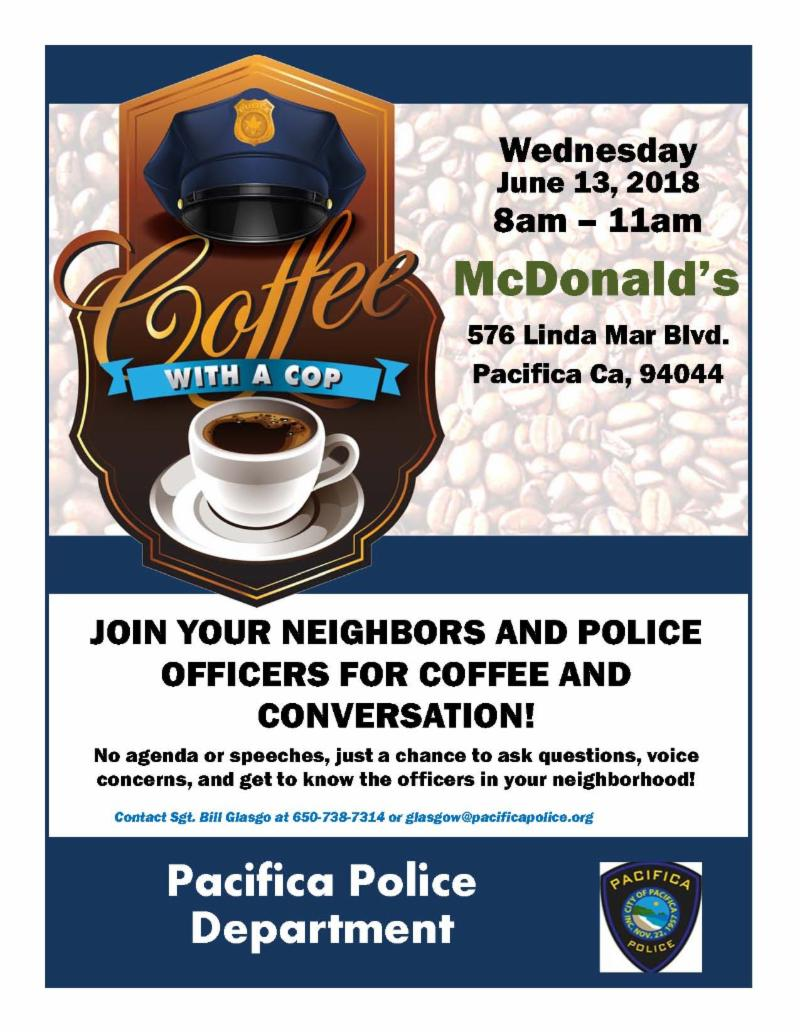 Coffee With a Cop 6-13-2018