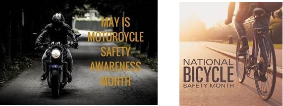 Bicycle And Motorcycle Safety Month - May