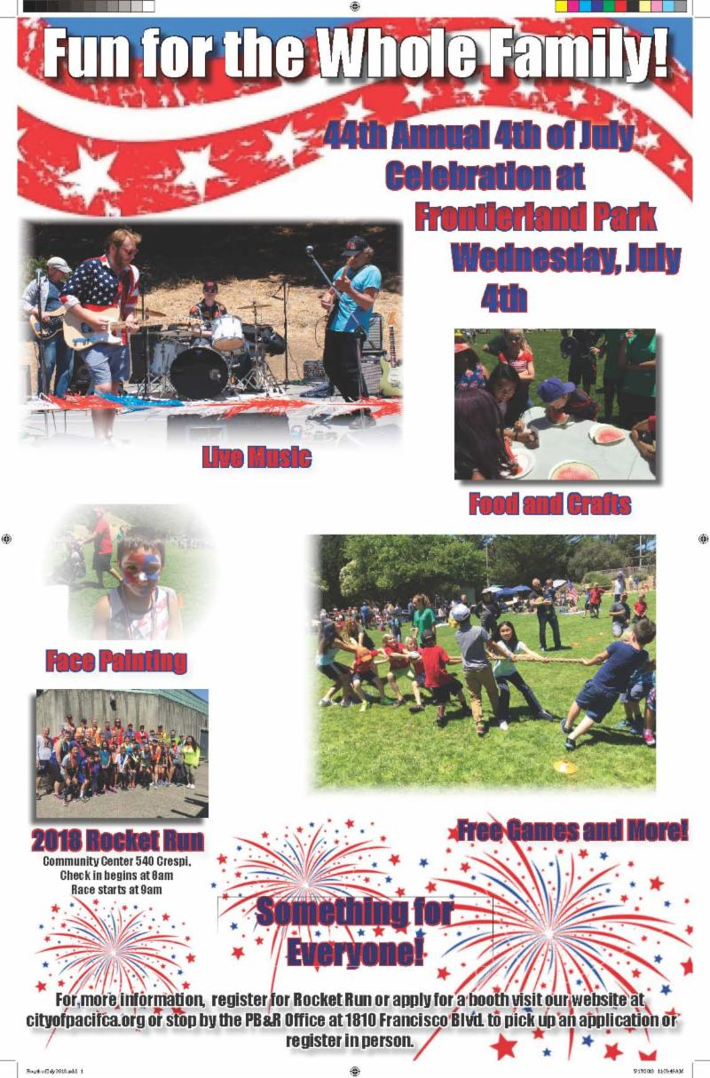 July 4th 2018 Event Flyer