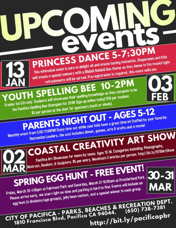 2018 Winter PLAY Upcoming Events