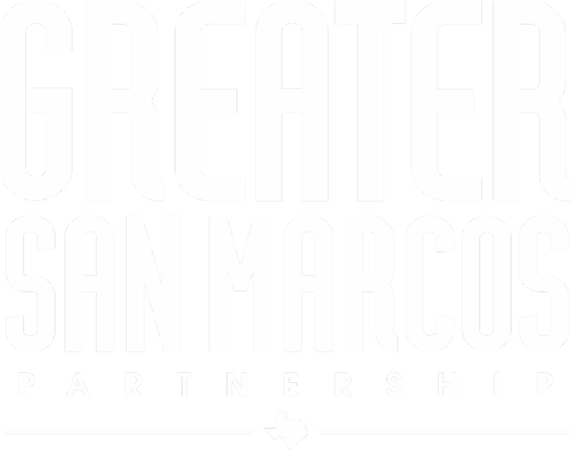 New vertical version of the Greater San Marcos Partnership logo.
