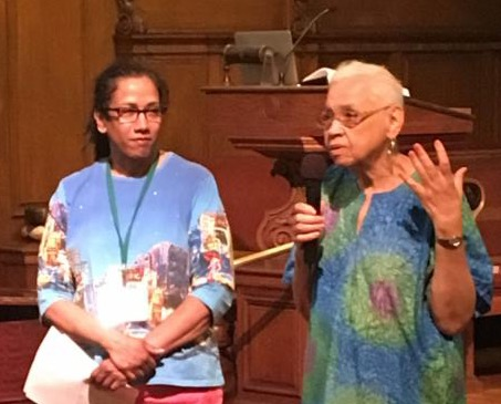 Parvathy and Rosita Johnson during Award Recognition 7.1.18