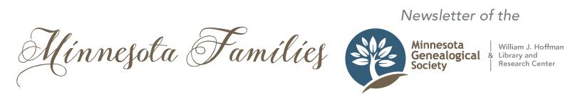 Minnesota Genealogical Society August 2017 Newsletter