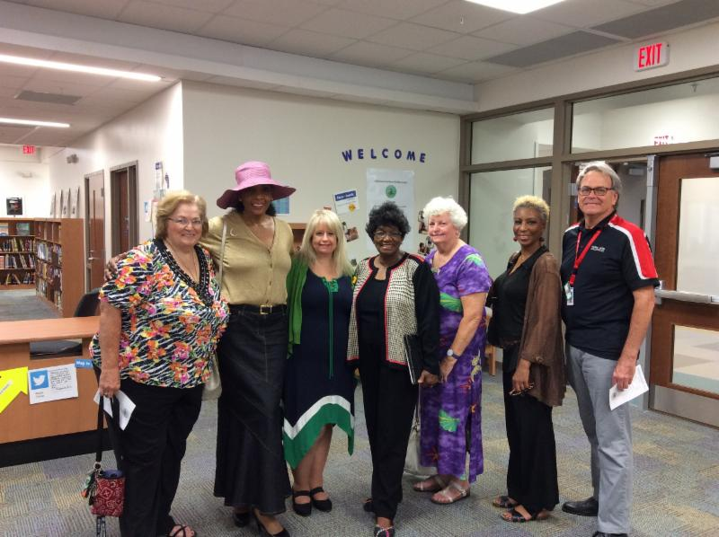 Mrs Gordon With Millennia Gardens Elementary School Administration
