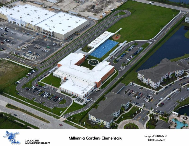 Aerials tangelo park elementary school and millennia gardens elementary school for Millennia gardens elementary school