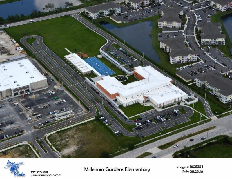 Aerials Tangelo Park Elementary School And Millennia Gardens Elementary School