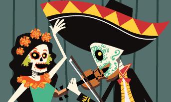 Dia de Los Muertos Fiesta graphic