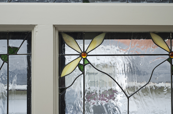 Kiva Flower Stained Glass Detail