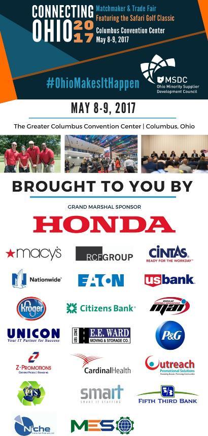 ConnectingOhio Matchmaker U0026 Trade Fair May 8 9 In Columbus, Ohio