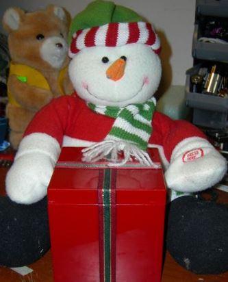 Plush Frosty toy