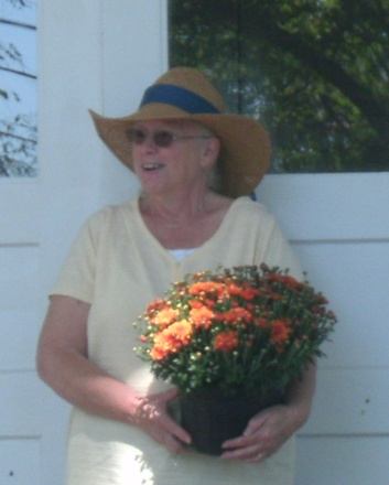 sue and her plant 2011