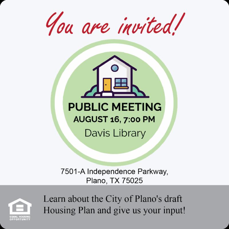 Housing Plano Public Input Meeting