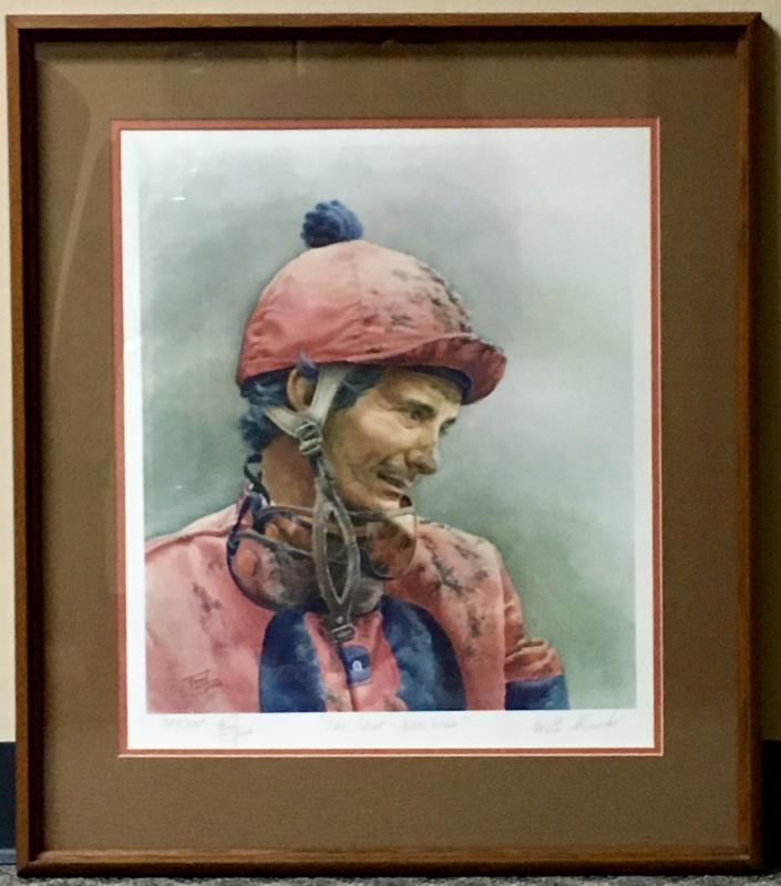Fred Stone signed print (377 of 395)  The Shoe - 8,000 Wins