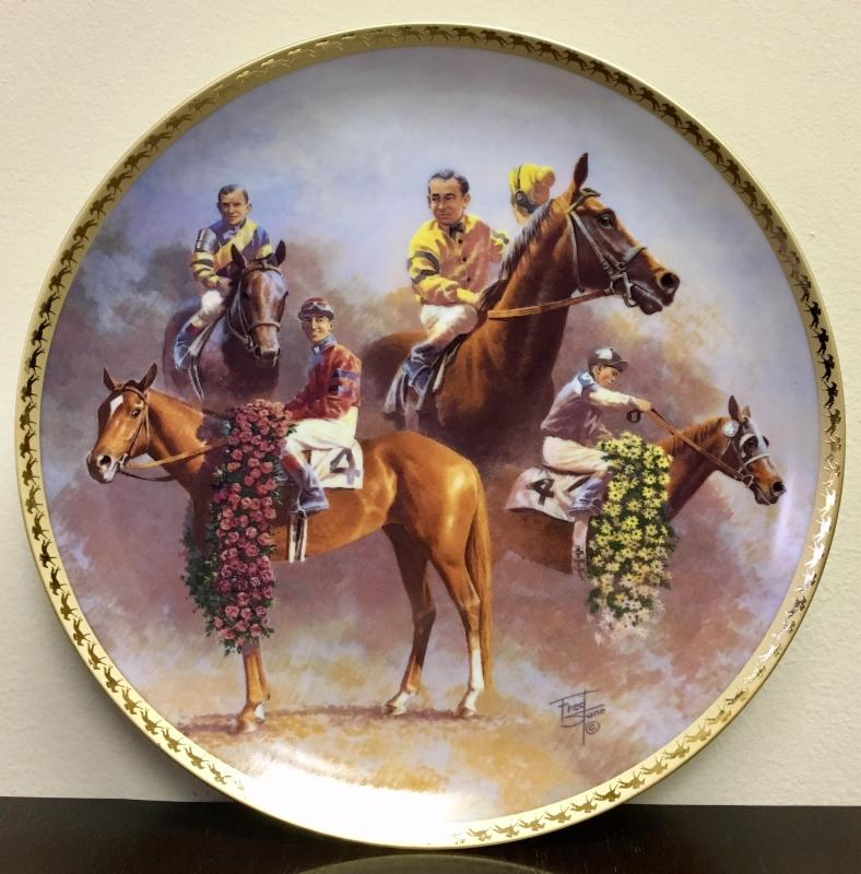 Fred Stone Collector Plate  War Admiral, Whirlaway, Count Fleet and Assault