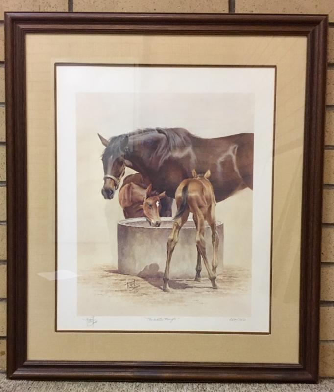 Fred Stone signed Print (664 or 750)  Water Trough