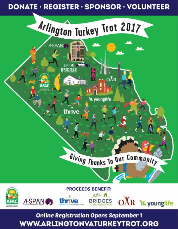Help AFAC and Join the Fun at Arlington\'s Turkey Trot!