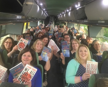 Librarians on the Friday Book Expo Bus