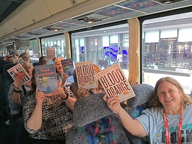 More fun on the Thursday Book Expo Bus