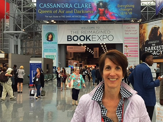 Julie at Book Expo