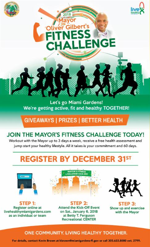 Join Mayor Oliver Gilbert's Fitness Challenge Today! Enjoy A
