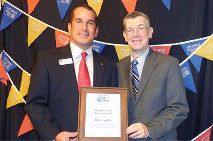 Mark Franklin honored with the Mary Alice Gray Award