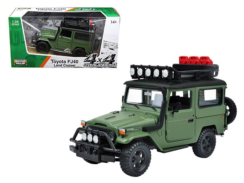 Cyber monday diecast coupon code toyota fj40 land cruiser matt green 4x4 overlanders series 124 diecast model car by motormax fandeluxe Images