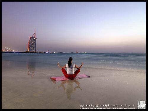 Dubai girl on beach