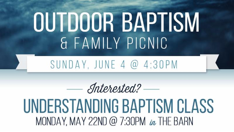 Outdoor Baptism and Family Picnic