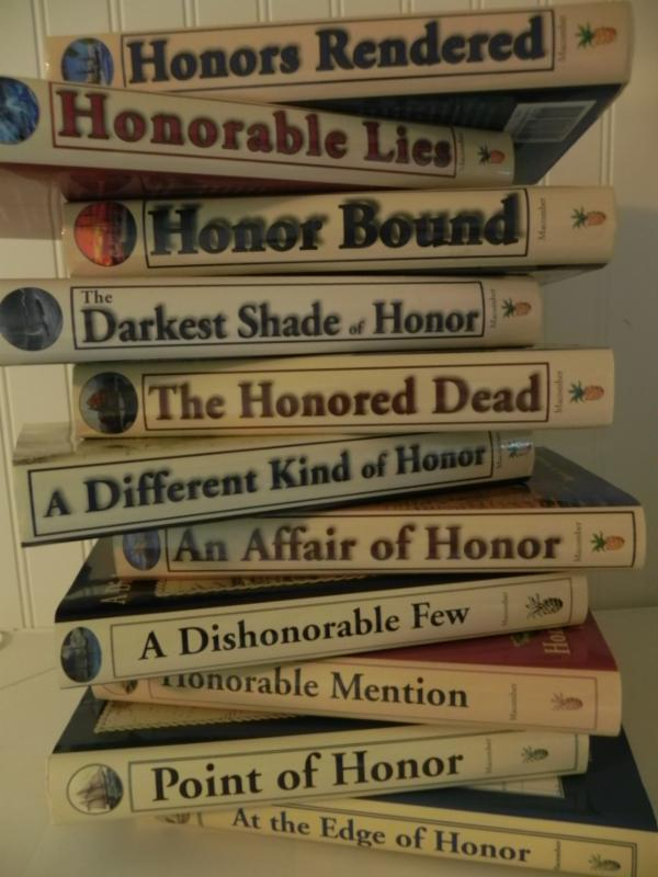 the first eleven of the novels by Robert N. Macomber [side view]