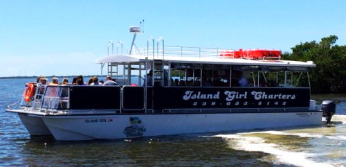 Macomber Tours on Island Girl Charters at Pineland Marina on Pine Island, FL